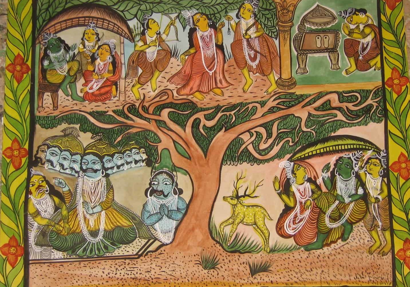 detail of a scroll - Baku Chitrakar, West Bengal