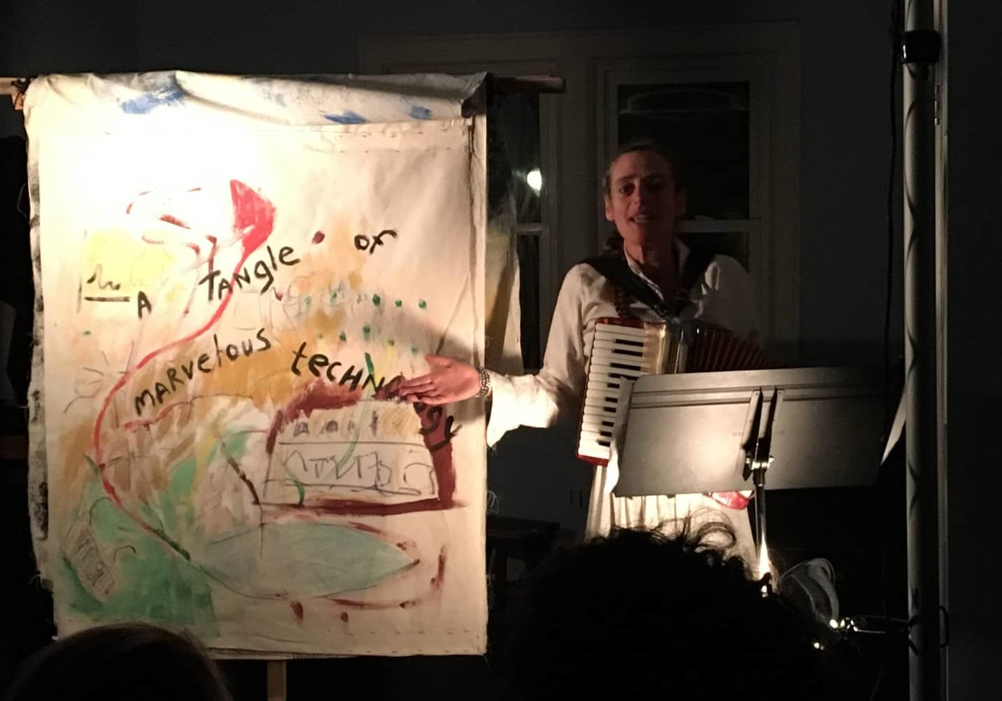 Clare Dolan performing Exquisite Corpse